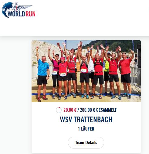 Mit dem WSV am Wings For Life World Run teilnehmen